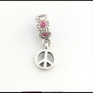 Pandora peace sign charm